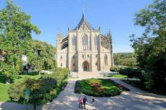 Dom der Heiligen Barbara / Chrám svaté Barbory in Kutná Hora / Kuttenberg; gotischer Kirchenbau auf der Weltkulturerbe- Liste der UNESCO.