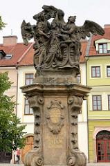 Brunnenskulptur Hl. Johannes von Nepomuk in Hradec Králové / Königgrätz.