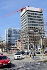 Umbau vom Finnlandhaus - Neubau Büro Hochhaus an der Esplanade im Hamburger Stadtteil Neustadt.