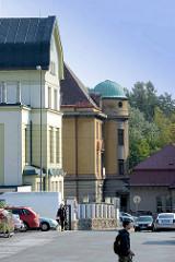 Hausfassaden / Wohnhäuser - Architektur in Dvůr Králové nad Labem / Königinhof an der Elbe.