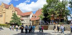 Wohn- und Wirtschaftsräume der Äbtissinnen vom Quedlinburger Damenstift - Renaissanceschloss aus dem 16. / 17. Jahrhundert.