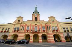 Rathaus von Melnik, ursprünglich 1398 erbaut, im letzten Viertel des 17. Jahrhunderts Barockumbau.