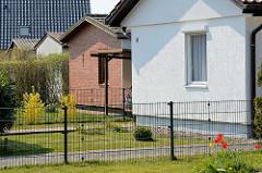 Schlichte Ferienhäuser / Wochenendhäuser in Zingst, Mecklenburg-Vorpommern.