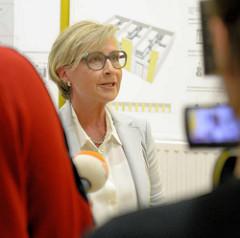 Leiterin des neuen Ankunftszentrums für Flüchtlinge in Hamburg Rahlstedt / Meiendorf, Birgit Steininger.