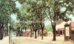 Historisches Bild von der Buxtehuder Straße in Hamburg Harburg.