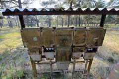Alte Stromverteilung - Sicherungen; ehem. Feriensiedlung im Ostseebad Prerow.