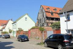 Historisches, verfallenes Speichergebäude  - Bielenbergscher Speicher - in Barth, Baustrasse.