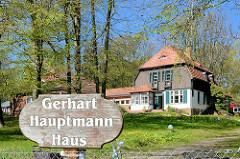 Gerhart Hauptmann Haus / Haus Seedorn auf der Insel Hiddensee - Sommerhaus des Dichters, jetzt Museum.