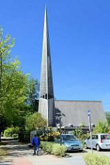 Dietrich-Bonhoeffer-Kirche in Hamburg Rahlstedt / Oldenfelde - Architekt Otto Andersen.