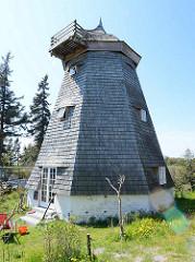 Denkmalgeschützte Windmühle in Vite, Insel Hiddensee - jetzt als Wohnraum / Ferienwohnung genutzt