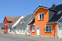 Wohnhäuser, Einzelhäuser an der Dorfstellenstraße in Barth.