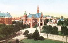 Historische Aufnahme vom Rathaus Hamburg Harburg; erbaut 1892 im Neorenaissancestil - Architekt Christoph Hehl.