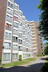 Wohnhaus mit Einzelzimmern / Kleinwohnungen an der Korrallusstraße in Hamburg Wilhelmsburg.