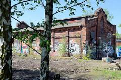 Bahnbetriebsgelände Hamburg-Wilhelmsburg, erbaut ab 1892 - aufgeführt in der Hamburger Liste für Kulturdenkmäler.