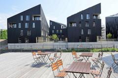 Moderne Architektur am Kaufhauskanal in Hamburg Harburg -  Wohnquartier Maritimes Wohnen.