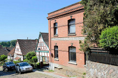 Werkstattgebäude - Backsteinarchitektur, Bau & Möbeltischlerei - Fachwerkhäuser in der Neustadt von Lauenburg / Elbe.