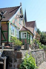 Historisches Handwerkerhaus in der Hunnenburg / Lauenburg.