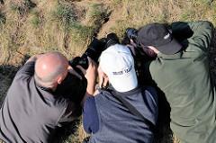 Warten auf die Maus - Naturfotografen suchen Objekt zum Fotografieren; Landschaftsfotografie / Naturfotografie in Masuren, Polen.