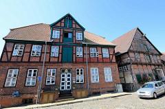 Historisches Wohn- und Geschäftshaus in der Elbstraße von Lauenburg / Elbe.