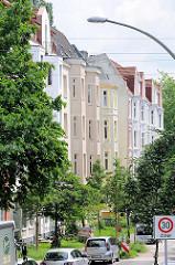 Gründerzeit Etagenwohnungen / Wohngebäude in Hamburg Wilhelmsburg.