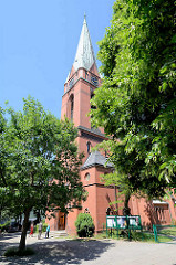 St. Pauluskirche in Hamburg Heimfeld - erbaut 1907, norddeutsche Backsteingotik.