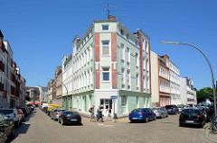 Etagenhäuser - Mietshäuser / Eckgebäude an der Wattenbergstraße / Baustraße  von Hamburg Heimfeld - Gründerzeitarchitektur.
