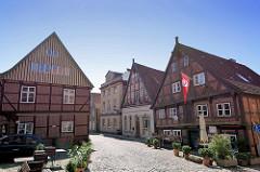 Historische Bebauung in der Elbstraße / Lauenburg.