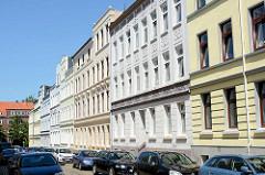 Etagenhäuser - Mietshäuser in der Bansenstraße von Hamburg Heimfeld - Gründerzeitarchitektur.