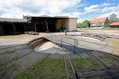 Drehscheibe beim Eisenbahn-Ausbesserungswerk der Bleckeder Kleinbahn / Eisenbahn-Werkstatt Bleckwerk.
