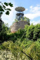 Reste vom alten Rundturm beim Bleckeder Elbschloss - erbaut um 1500.