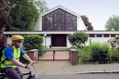Ehem. Kirchengebäude der Neuapostolischen Kirche in Hamburg Wilhelmsburg.