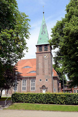 Pauluskirche im Beamtenviertel von Brunsbüttel, erbaut 1915