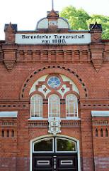 Gebäude / Turnhalle der Bergedorfer Turnerschaft von 1880; Backsteinarchitektur erbaut 1896.