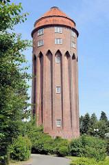 Alter Wasserturm in Brunsbüttel - erbaut 1911, Höhe 38 m.