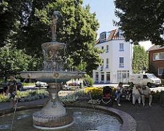 Auf dem Kaiser Wilhelm Platz im Hamburger Stadtteil Bergedorf steht der Sievers Brunnen; der Springbrunnen wurde 1888 von Carl Sievers gestiftet. Sievers war der Besitzer der Bergedorfer Wasserwerke, die sich bis 1899 in privatem Eigentum befande