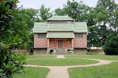 Chinesisches Teehaus im Schlosspark von Oranienbaum.