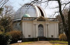 Observatorium mit dem Großen Refraktor - Hamburger Sternwarte in Bergedorf.