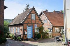 Kate, kleines Fachwerkhaus an der Trave - Heiligengeiststraße in Bad Oldesloe.
