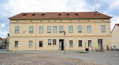 Amtshaus in Coswig - erbaut 1703; es diente als Wohnung und Amtsräumen vom Amthauptmann - Verwalter vom Fürstenhaus eingesetzt.