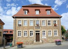 Bergschule am Markt von Eisleben; Barockgebäude, erbaut um 1798.