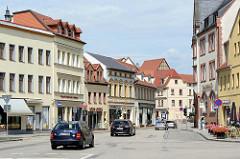 Geschäftsstraße in der Lutherstadt Eisleben - Markt.