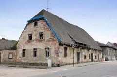 Verfallenes Gebäude - Brauerei Lichtspiele in der Brauerstraße von Oranienburg.