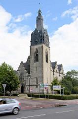 Christuskirche in Lutherstadt Wittenberg; erbaut 1908, Entwurf Friedrich Beisner.