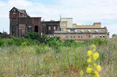 Historische Fabrikanlage am Industriehafen der Lutherstadt Wittenberg - teilweise verfallen / Ruine, teilweise restauriert und als Gewerberaum genutzt.