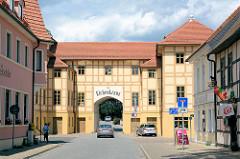 Historischer Gasthof Zum Eichenkranz in Wörlitz.
