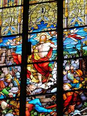 Glasfenster / Glasmalerei in der Schlosskirche von Lutherstadt Wittenberg.