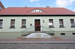 Geburtshaus von Friedrich Wilhelm Rust in Wörlitz, geb. 1739 - Musiker.