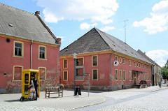 Architektur in Wörlitz -  historisches Brauhaus in der Erdmannsdorffstraße von Wörlitz.