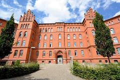 Ehem. Tauentzienkaserne in Lutherstadt Wittenberg, erbaut 1883 - jetzt Standort vom Neuen Rathaus der Stadt.