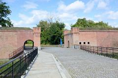 Renovierte / wiederaufgebaute Festungsanlage der Festung  Küstrin / Kostrzyn - Polen, Kietzer Tor.